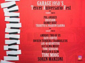 Cartel Garage1950s - Tercer Aniversario Fest