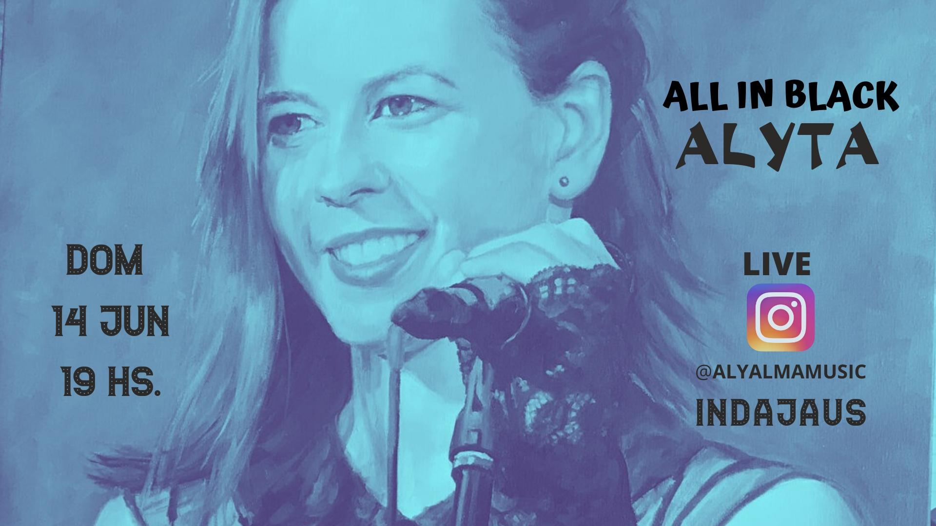 Cartel concierto Alyta - Live en Instagram