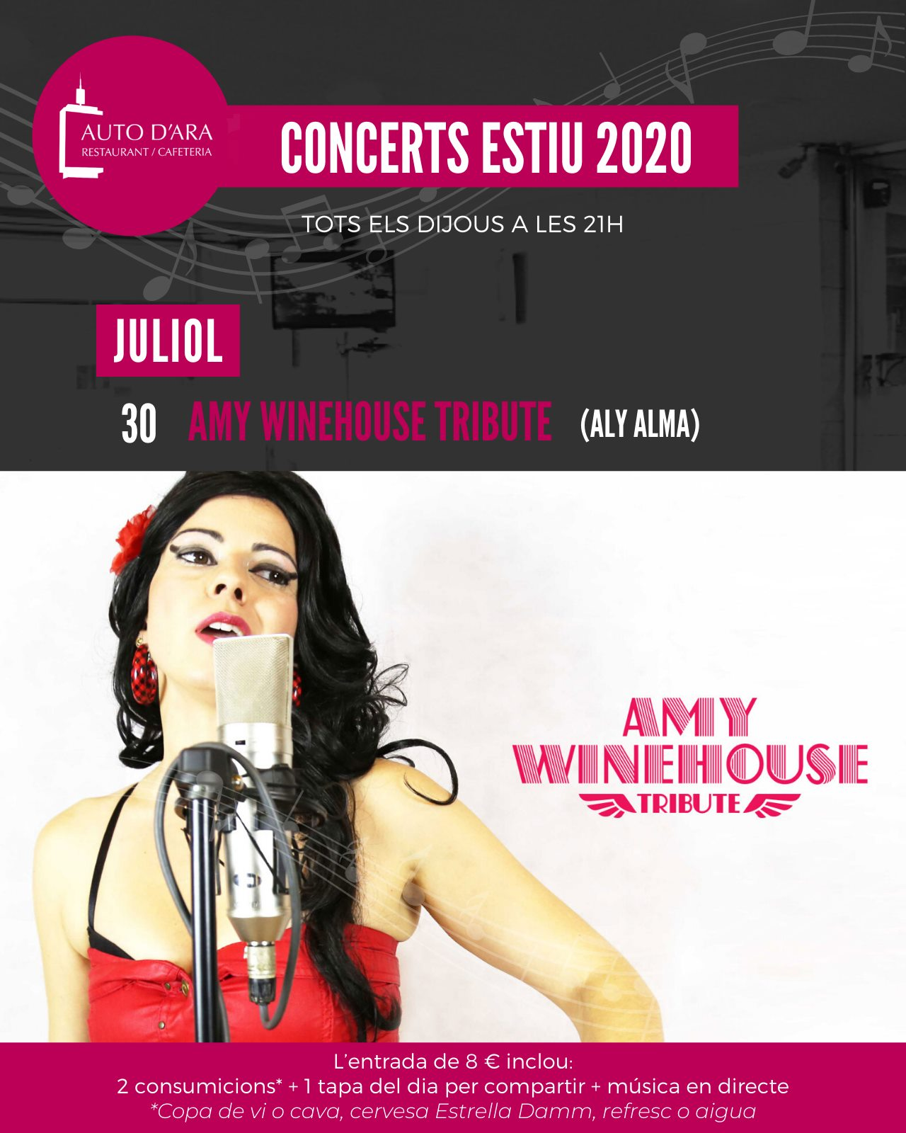 Cartel Amy Winehouse Tribute