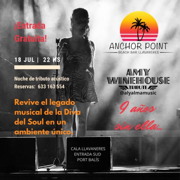 Cartel tributo Amy Winehouse