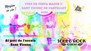 Cartel Aly Alma a la FEsta Major Sant Vicenç de Castellet 2020