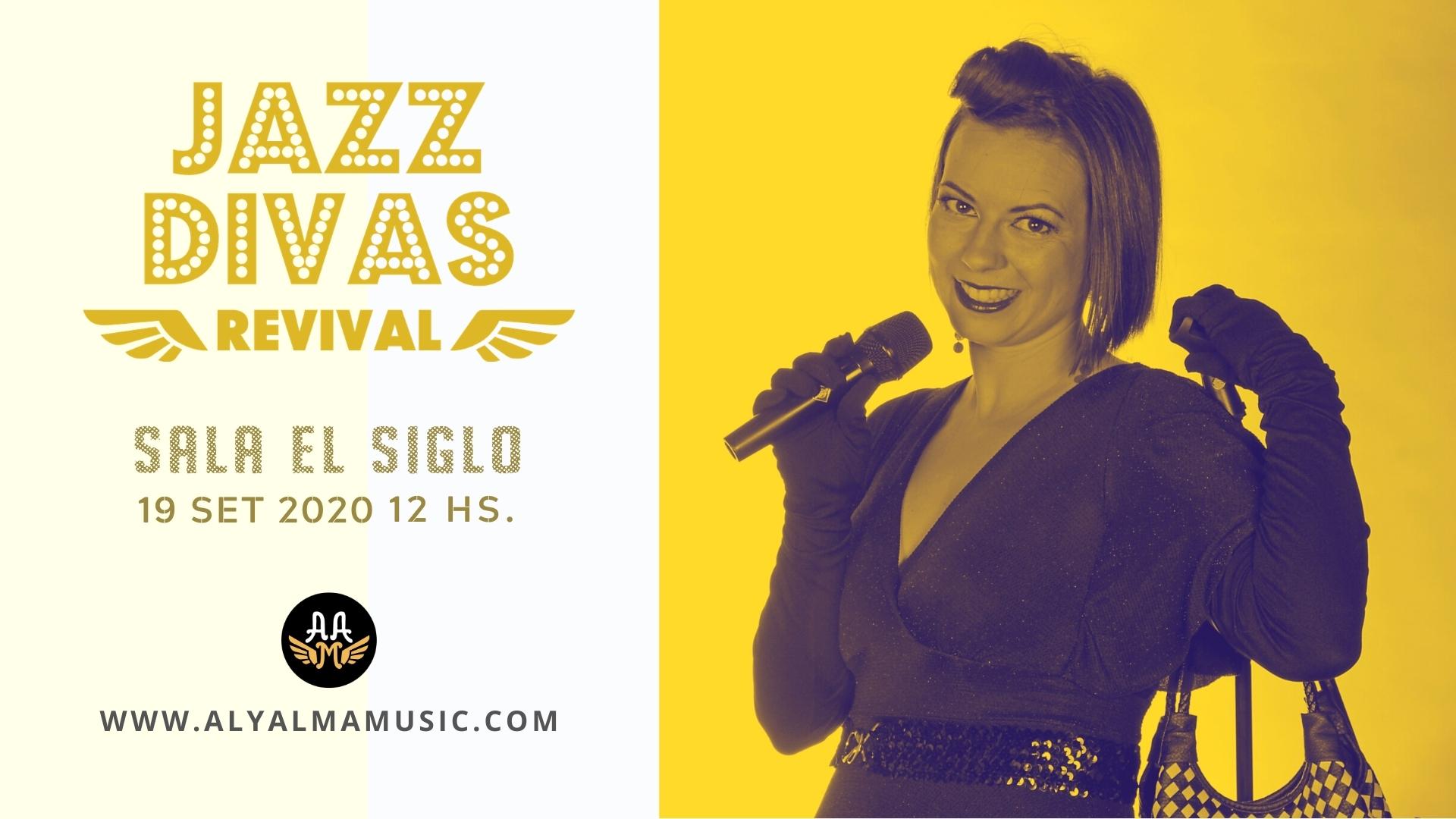 Cartel Jazz Divas en Sala El Siglo