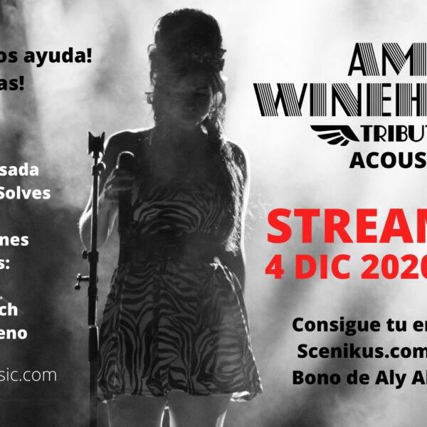 Cartel concierto Amy Winehouse Acoustic Tribute by Aly Alma Music