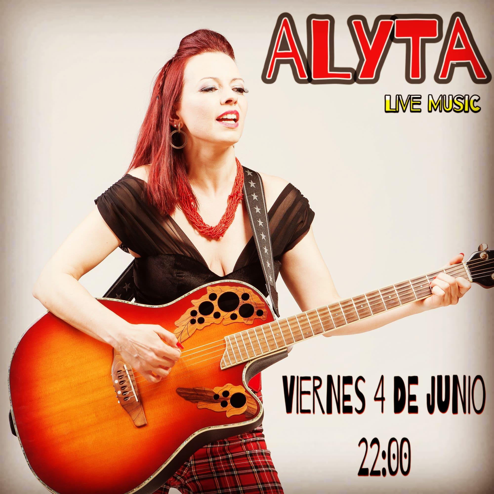 Cartel concierto Alyta en REstaurante Garage 1950s en El prat de Llobregat