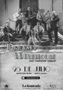 Cartel concierto presentación Dreamy Winehouse : TRibuto a Amy Winehouse