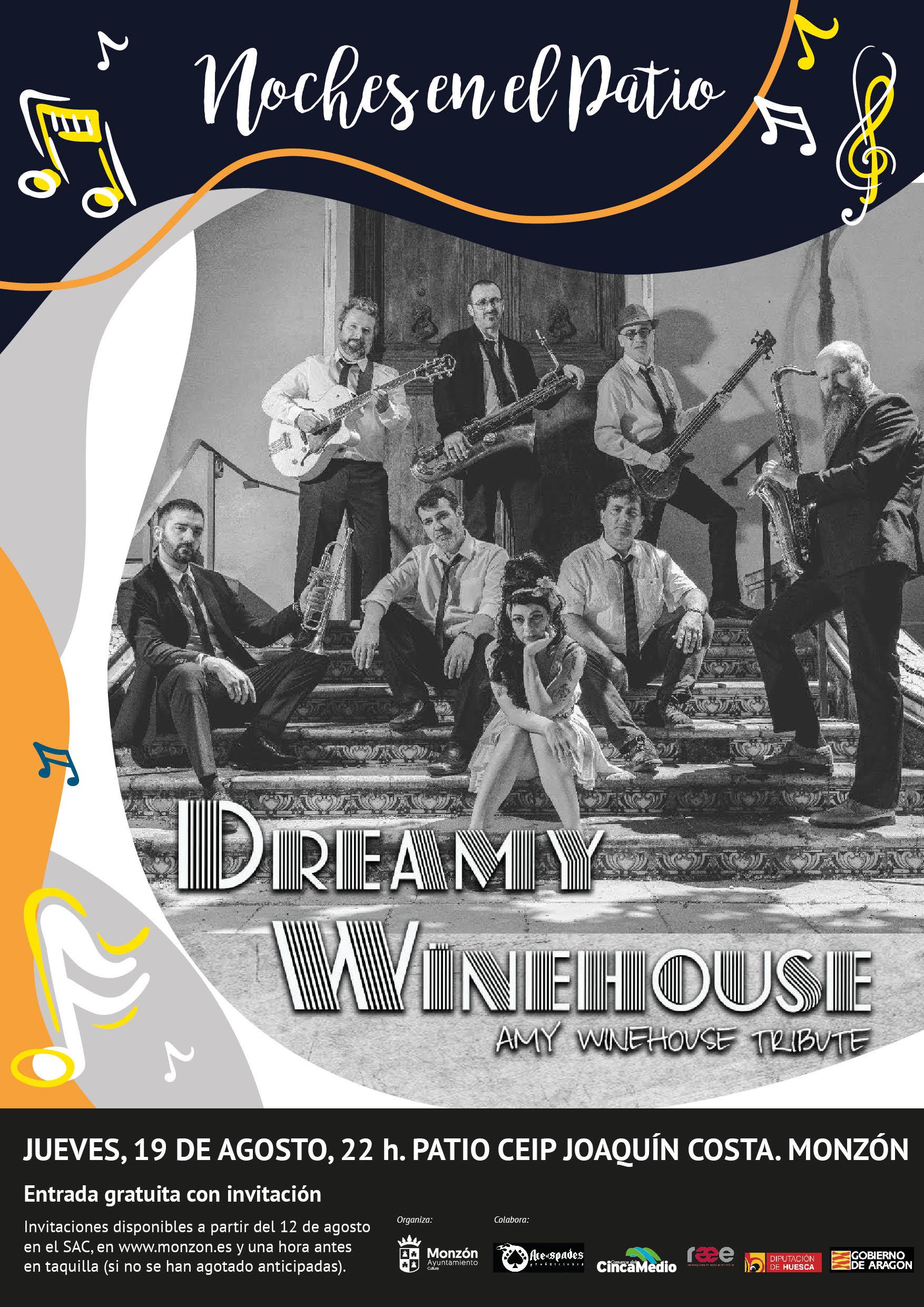 Cartel concierto Dreamy Winehouse - Amy Winehouse Tribute el 19 de agosto del 2021 en Monzón