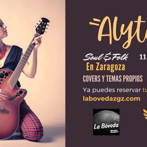 Concierto acústico de Alyta's Soul en ZAragoza 2021